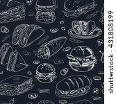 vector sandwiches seamless...   Shutterstock .eps vector #431808199