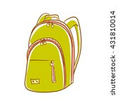 hand drawn green backpack.... | Shutterstock .eps vector #431810014