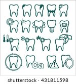 teeth icons set. collection of... | Shutterstock .eps vector #431811598