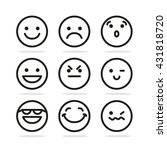 set of smile icons | Shutterstock .eps vector #431818720