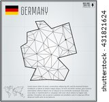 germany map in geometric... | Shutterstock .eps vector #431821624