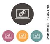 line icon  computer | Shutterstock .eps vector #431821786