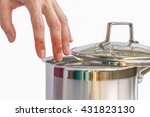 hand of woman with injuries... | Shutterstock . vector #431823130