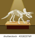 Triceratops Bones Skeleton In...