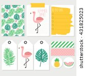Set Of Colorful Summer Cards ...