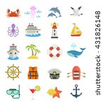 Set Of Sea Vacation Icons....