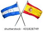 honduras flag with spain flag ... | Shutterstock . vector #431828749