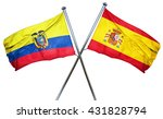 ecuador flag with spain flag ...   Shutterstock . vector #431828794