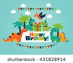 happy birthday   lovely vector... | Shutterstock .eps vector #431828914