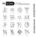 modern thin line icons set of... | Shutterstock .eps vector #431829433
