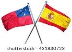 samoa flag with spain flag  3d... | Shutterstock . vector #431830723