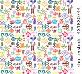 background with colorful ... | Shutterstock .eps vector #431830744