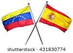 venezuela flag with spain flag  ...   Shutterstock . vector #431830774