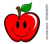 apple emoticon emoji. happy ... | Shutterstock .eps vector #431833054
