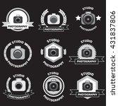 photo studio logo set. | Shutterstock . vector #431837806