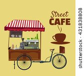 street food  cafe  car  vector... | Shutterstock .eps vector #431838808