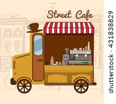 street food  cafe  car  vector... | Shutterstock .eps vector #431838829