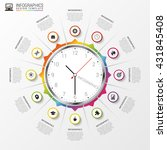 abstract infographic. clock....