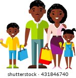 shopping concept with  african... | Shutterstock .eps vector #431846740