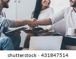 nice to meet you  close up of... | Shutterstock . vector #431847514