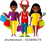 shopping concept with couple... | Shutterstock .eps vector #431848174