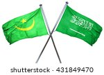 mauritania flag with saudi... | Shutterstock . vector #431849470