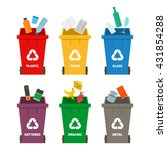 waste management and recycling ... | Shutterstock .eps vector #431854288