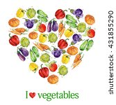 heart of vegetables. i love... | Shutterstock . vector #431855290