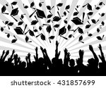 graduation day students happy... | Shutterstock . vector #431857699