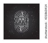 hand sketched summer element... | Shutterstock .eps vector #431863414