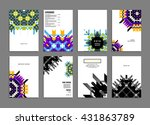abstract background. geometric... | Shutterstock .eps vector #431863789