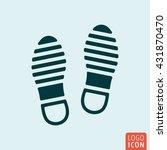 shoes icon. imprint soles shoes ...