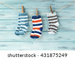 Baby Striped Socks On A...