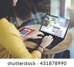 web security internet... | Shutterstock . vector #431878990
