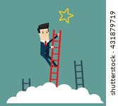 businessman climbs the stairs... | Shutterstock .eps vector #431879719