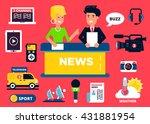 news design concept set of flat ... | Shutterstock .eps vector #431881954