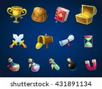 set of different items. vector... | Shutterstock .eps vector #431891134