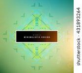 geometric vector background.... | Shutterstock .eps vector #431893264