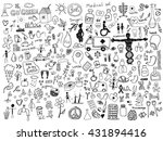 health care doodles | Shutterstock .eps vector #431894416