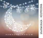 ramadan string with ornamental... | Shutterstock .eps vector #431901046