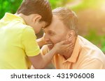 pretty friendly family is... | Shutterstock . vector #431906008