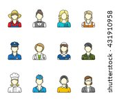 women icons. set of different... | Shutterstock .eps vector #431910958