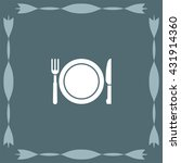 fork and knife menu vector icon   Shutterstock .eps vector #431914360
