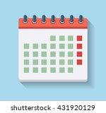 flat calendar icon. vector...   Shutterstock .eps vector #431920129