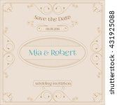 wedding invitation card with... | Shutterstock .eps vector #431925088