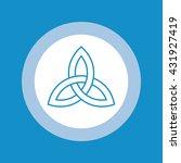 celtic trinity knot . vector... | Shutterstock .eps vector #431927419