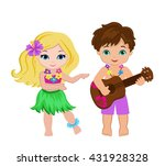 illustration of  boy playing... | Shutterstock .eps vector #431928328
