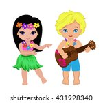 illustration of  boy playing... | Shutterstock .eps vector #431928340