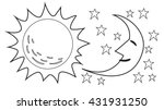 vector illustration of sun and...