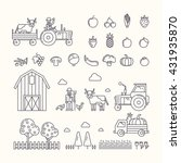 vector illustration of organic... | Shutterstock .eps vector #431935870